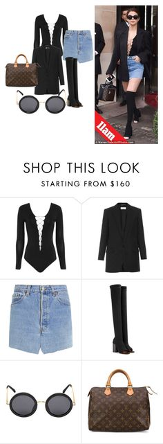 """""""Steal The Look: Selena Gomez"""" by nina2809-x ❤ liked on Polyvore featuring Alexander Wang, Yves Saint Laurent, Vetements, Givenchy, The Row and Louis Vuitton"""