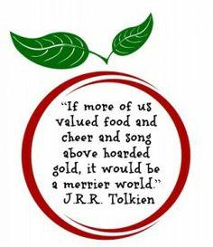 J. R. R. Tolkien quote on food