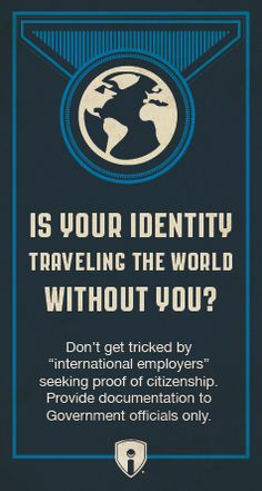 ID Tip: When moving to a new country, only give your passport and citizenship information to official government channels. #IdentityTheft
