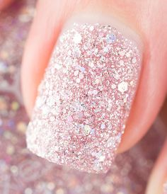 Up Close Shot of Zoya Magical Pixie Lux - textured, matte and sparkling with a holographic hex glitter via @Tiffany Martinez