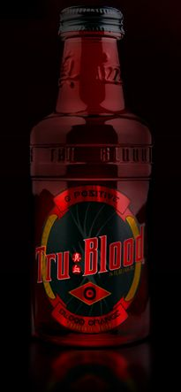 where to find Tru blood drink recipes...could possibly substitute orange soda and red food coloring if you dont have any Tru blood on hand