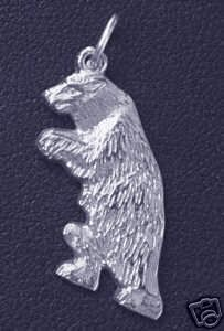 Grizzly Bear Sterling Silver 925 Pendant Charm Jewelry Sterling Silver 925 Jewelry