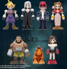 FINAL FANTASY 7 VII REMAKE Ichiban Kuji set of 7 Polygon Mini Figure Limited