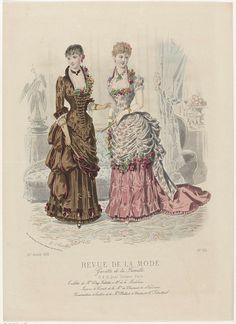 Revue de la Mode, Gazette de la Famille, dimanche 7 octobre 1883, 12e annee, No. 614: Toilettes de Mme Day-Fallette..., A. Chaillot, Auguste Godchaux
