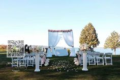 cool vancouver wedding Outdoor ceremony setup at Ferguson Point Stanley Park @the_teahouse #vancouverceremony #weddingceremony #wedding #amaraflowerdecor by @amarawedding  #vancouverwedding #vancouverweddingvenue #vancouverwedding