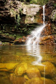 That is Pufiricação Waterfall, at Vale do Capão - Chapada Diamantina, in Bahia, Brazil. The access is by trail inside a dense forest. Diving there is quite cold because most of the river course is hidden in the shadows of the trees and the high rocks. Photo by Camilla Cheade