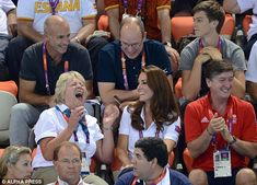 Making them laugh: Kate kept everyone entertained during the breaks in performances
