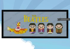 The Beatles - Yellow Submarine version - PDF cross stitch pattern