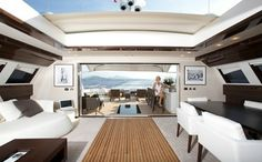 Tamsen yachts - Tatii Interior Upper Deck of Tatii