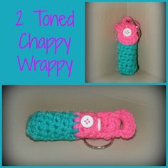 crochet keychain chapstick holder