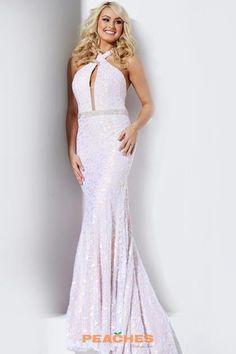 Halter Top Fitted Navy Jovani Dress 32457