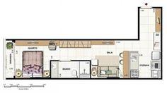 apartamentos compactos decorados - Pesquisa Google