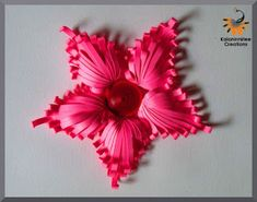 kalanirmitee: paper quilling- quilling ideas- quilled flower-quilled majestic flower- quilled project- quilled comb technique- quilled tutorial- 3D quiiling