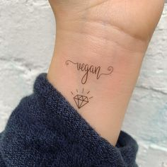 Vegan temporary tattoo from Things I Care About Shop. Vegan tattoo.