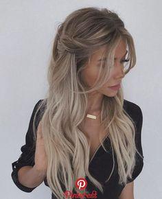 Trendy Braided Hairstyles For Long Hair Looks Fantastic Hairstyles . Braids For Long Hair, Curled Hair With Braid, Curled Hair Prom, Wedding Hair Blonde, Long Hair Dos, Celebrity Wedding Hair, Long Ponytails, Hair Down Braid, Long Formal Hair