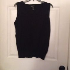 Black Lane Bryant sweater vest Black Lane Bryant size 18/20 sweater vest with stretchy comfortable form fit on bottom Lane Bryant Sweaters