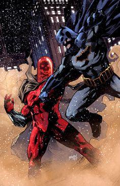 Batman vs Mr Toxic by GlebTheZombie on DeviantArt Batman Vs, Spiderman, Online Comic Books, Art Store, Dark Knight, Dc Universe, Rogues, Drawing Reference, Gotham