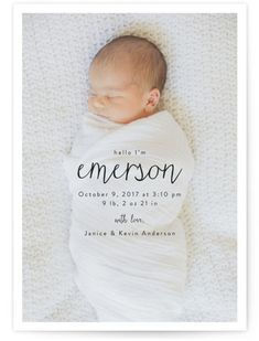 Classic BIRTH ANNOUNCEMENT new baby silver white embossed X 10 boy or girl DU