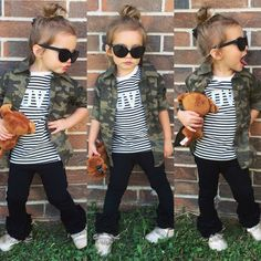 FOLLOW us on Instagram for outfit details and ideas! ❤️ https://i.instagram.com/miss_elliot_grey/ Toddler fashion, camo, camouflage, top knot, toddler top knot, striped, moccasins, shades, toddler girl, threads, style, toddler style, toddler hair, style icon, toddler outfit ideas, fall outfit, fall fashion, baby fashion, baby outfit ideas, fall outfit ideas, cute toddler outfits, toddler outfits for girls,