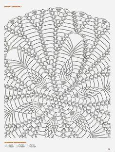 Veronica crochet y tricot. Motif Mandala Crochet, Crochet Doily Diagram, Crochet Circles, Crochet Doily Patterns, Crochet Chart, Thread Crochet, Crochet Stitches, Crochet Dollies, Pineapple Crochet