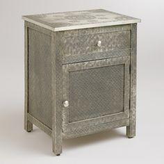 Kiran Embossed Metal Cabinet | World Market