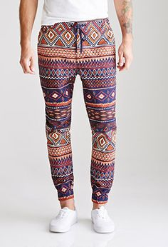 Bold patterned pants are my new thing, and you knowwww I love me some joggers.