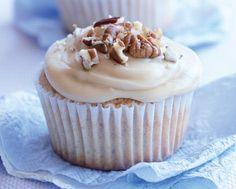 Pecan Cinnamon Cupcakes Cupcake Recipes, Drink Recipes, Cupcake Cakes, Cinnamon Cupcakes, More Cupcakes, Recipe Details, Pecan, Baked Goods, Goodies