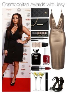 """""""Cosmopolitan Awards with Jesy"""" by quintylovee ❤ liked on Polyvore featuring Boohoo, LSA International, Chanel, MAC Cosmetics, MICHAEL Michael Kors, Forever 21, Marc Jacobs, Essie and Givenchy"""