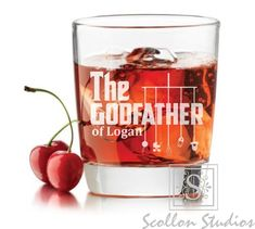 Godparent Gift, Personalized Godfather Gift,Rocks Glass, Whiskey Glass ,Will You… Godparent Gifts, Baptism Gifts, Personalized Gifts, Godfather Gifts, The Godfather, Quinceanera Invitations, Online Invitations, Unique Presents, Baby Boy Shower
