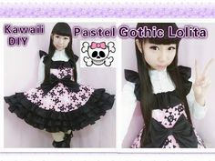 Easy Kawaii DIY - How to Make Pastel Gothic Lolita Dress(make ruffles on the dress) - YouTube