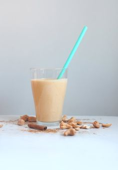 Pumpkin, Cashew, and Cinnamon Smoothie | Get the recipe for Pumpkin, Cashew, and Cinnamon Smoothie.
