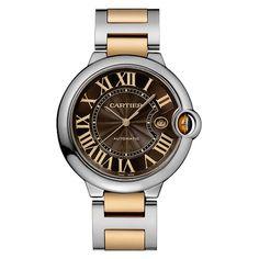 CARTIER Stainless Steel and Pink Gold Balon Bleu Wristwatch #watch #pocketwatch #antique #rare (via @1stdibs)