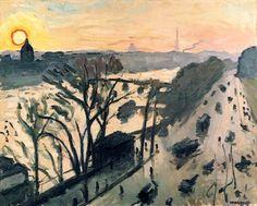 Le quai du Louvre (1905), une oeuvre d'Albert Marquet (1875-1947)  (Paris 1er)