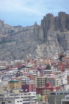 La Paz  is literally a city in a crater.