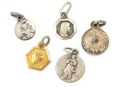 Vintage Catholic Medal Lot Our Lady of Lourdes - Immaculate Conception - Virgin Mary - Jesus Christ Religious Charms - Rosary Supplies - Q71 by LuxMeaChristus on Etsy