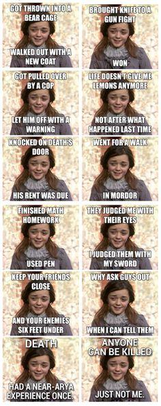 Game of Thrones Arya Stark meme