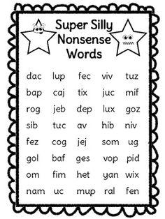 Nonsense words to prevent guessing.   Learning   Pinterest