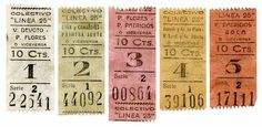 penny candy: Beautiful Boletos: Argentinian Railway Tickets