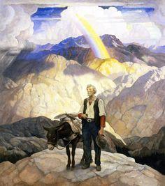 N.C. WYETH  The Seeker  Oil on Canvas70″ x 62″