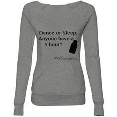 Dance or Sleep Sweater | Fun WCS Sweater, for when the ballroom gets cold!