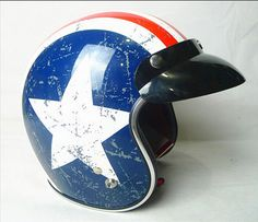 2016 New Captain America flag TORC Harley styl motocykl helma T50 týmu USA ABS Prince Motocyklové helmy