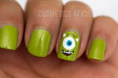 monsters university mike wazowski nail art