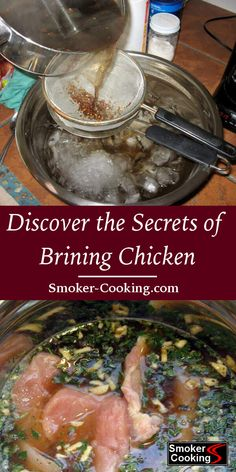 Brining Chicken Improves Flavor And Helps Smoked Chicken Remain Juicy Smoker Cooking a cooking smoke Brining Chicken, Smoked Chicken Brine, Brined Chicken Recipe, Smoked Whole Chicken, Grilled Chicken Recipes, Chicken Flavors, Grilled Meat, Stuffed Whole Chicken, Chicken