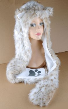 AnimalHeadGear.com - Beautiful Snow Leopard Hat (WorldWide Shipping), $34.95 (http://www.animalheadgear.com/beautiful-snow-leopard-hat-worldwide-shipping/)
