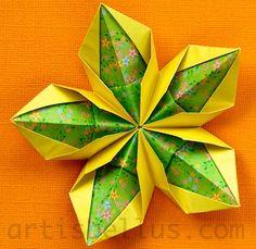 Origami Decorations: Modular Flower