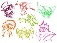 Disney villians sketch--page 2 by padawanlinea on deviantart Disney Nerd, Disney Fan Art, Disney Love, Disney Pixar, Disney Evil Queen, Disney Magic, Disney Sketches, Disney Drawings, Percy Jackson Fanart