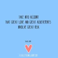 Take into account that great love and great achievements involve great risk { Dalai Lama } Quotes Dalai Lama, Great Love, Accounting, Words, Quotes, Quotations, Qoutes, Business Accounting, Shut Up Quotes