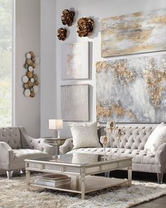 49 Elegant Living Room Decor Ideas 23 - Home Decor Ideas 2020 Silver Living Room, Glam Living Room, Elegant Living Room, Formal Living Rooms, Artwork For Living Room, Elegant Dining, Casa Top, Room Wall Decor, Dining Room Wall Art