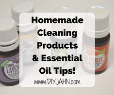 Looking to save money AND create a cleaner home? We have a ton of homemade cleaning products for you to try out (and some essential oil tips)!