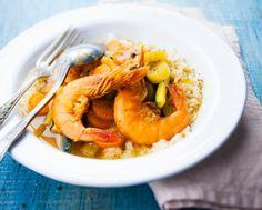 Crevettes au curry via Cookeo